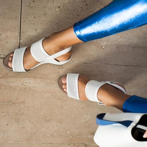 Kendall Deri Kadın Dolgu Topuklu Sandalet 2010043201010