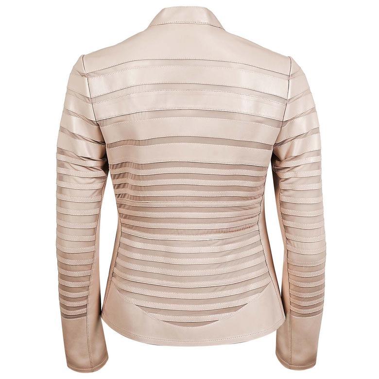 Constanza Kadın Panelli Anatomik Deri Ceket 1010028427010