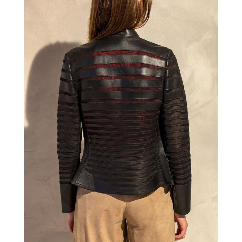 Constanza Kadın Panelli Anatomik Deri Ceket 1010028425004