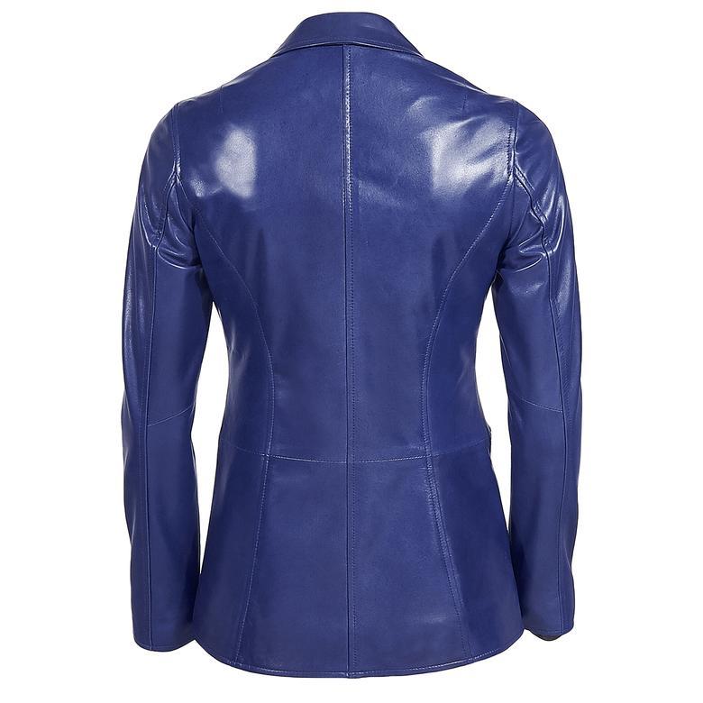 Elenore Kadın Deri Blazer Spor Ceket 1010028429005