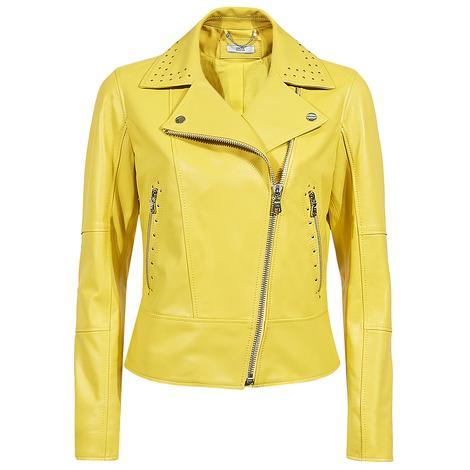 Belina Kadın Biker Deri Ceket 1010028470005
