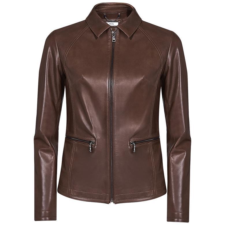 Alda Kadın Gömlek Yakalı Deri Ceket 1010028504010