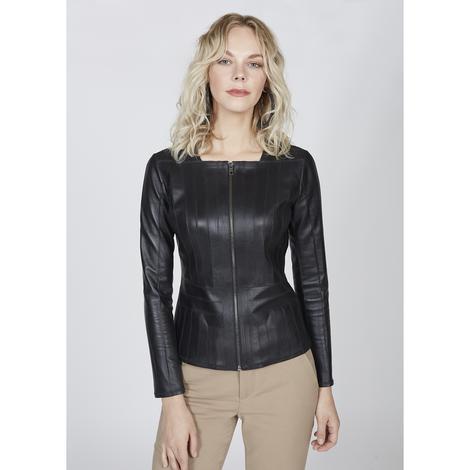 Parizza Kadın Panelli Anatomik Deri Ceket 1010028505005