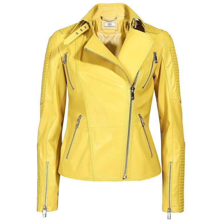 Cristina Kadın Deri Biker Ceket 1010028622001