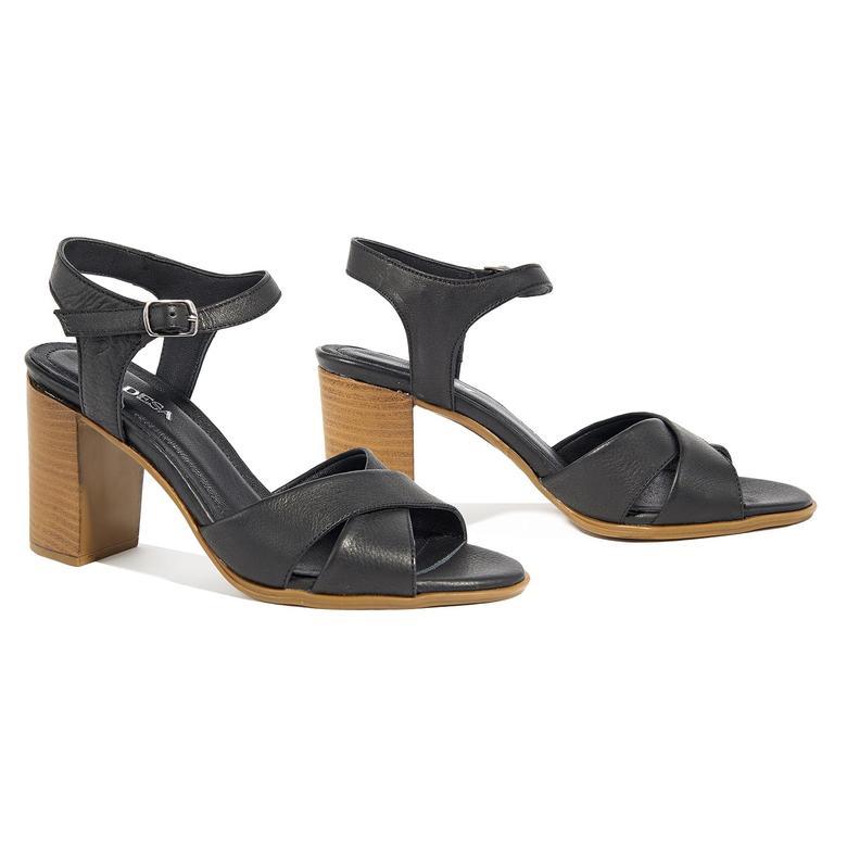 Demetra Kadın Deri Topuklu Sandalet 2010044770006