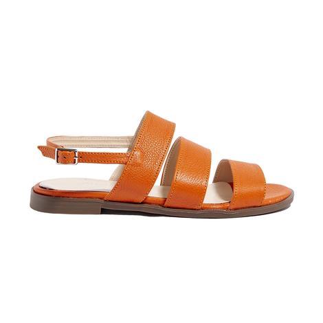 Turuncu Bretta Kadın Deri Sandalet 2010044630035