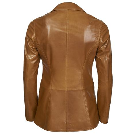 Elenore Kadın Deri Blazer Spor Ceket 1010028429012