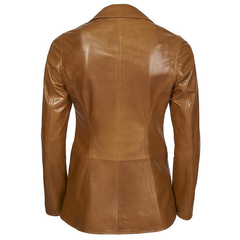Elenore Kadın Deri Blazer Spor Ceket 1010028429011
