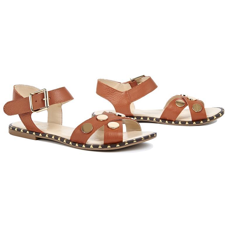 Bedros Kadın Deri Sandalet 2010044747022