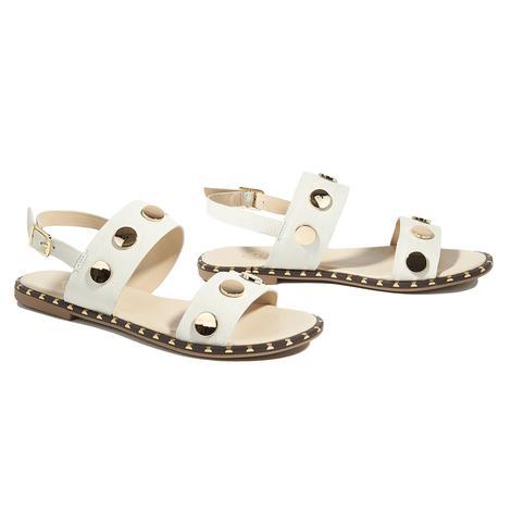 Beyaz Cadmus Kadın Deri Sandalet 2010044779021