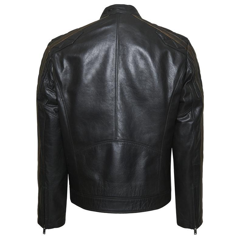 Primo Erkek Motorcu Deri Ceket 1010029946008
