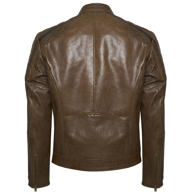Primo Erkek Motorcu Deri Ceket 1010029946002