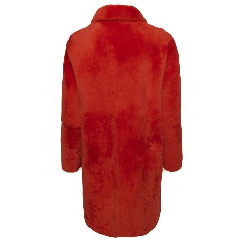 Kırmızı Carmen Kadın Kürk Kaban 1010029978025