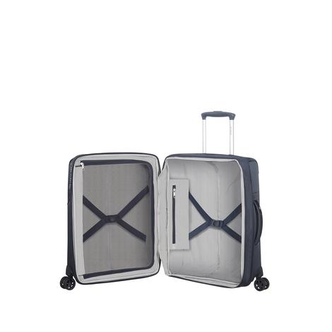 Samsonite Duopack - 4 Tekerlekli Körüklü İki Bölmeli Kabin Boy Valiz 55cm 2010045816003
