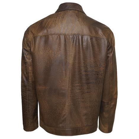 Manno Erkek Gömlek Yakalı Deri Ceket 1010028975002