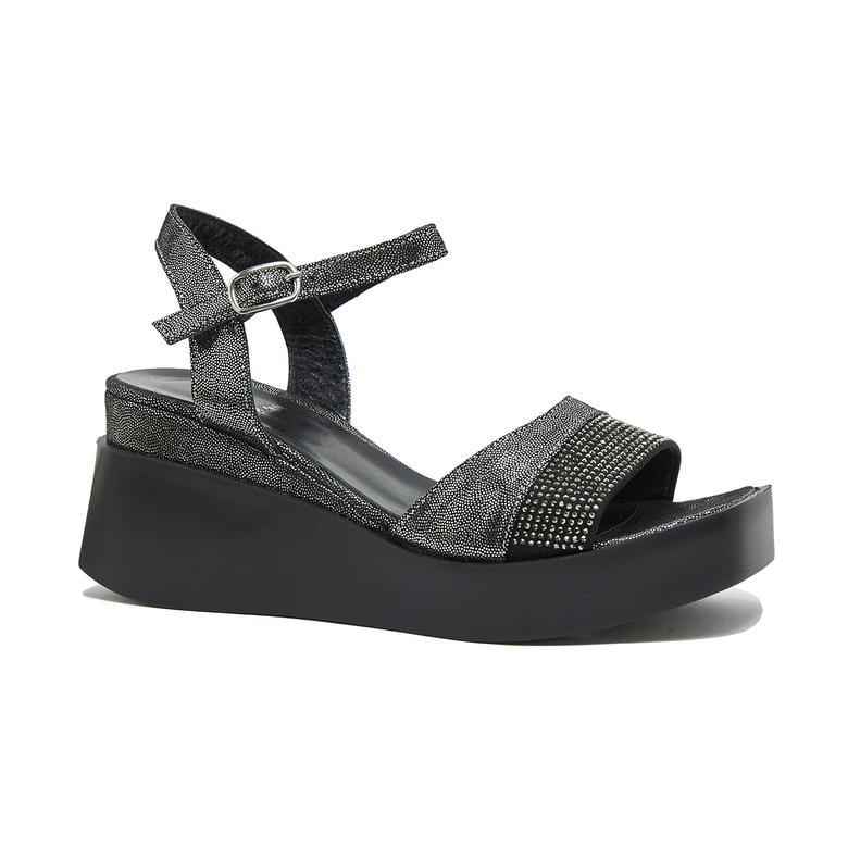 Hendra Kadın Deri Dolgu Topuklu Sandalet 2010046025006