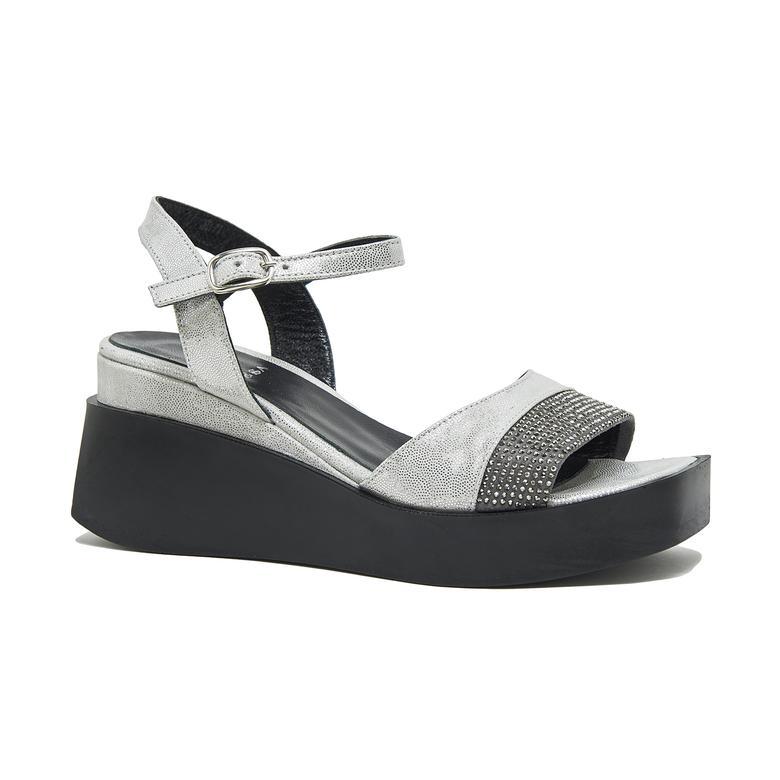 Hendra Kadın Deri Dolgu Topuklu Sandalet 2010046025005