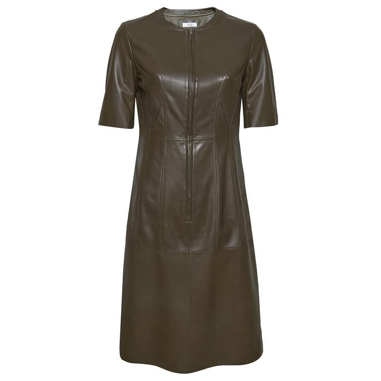 Serilda Kadın Deri Kısa Kollu Elbise 1010030027008