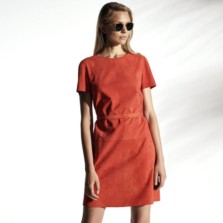 Denisa Kadın Süet Elbise 1010030539009