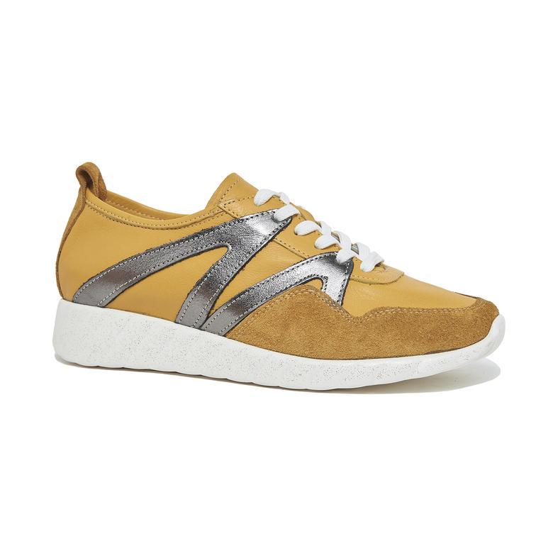 Sarı Skyla Kadın Deri Spor Ayakkabı 2010045998011