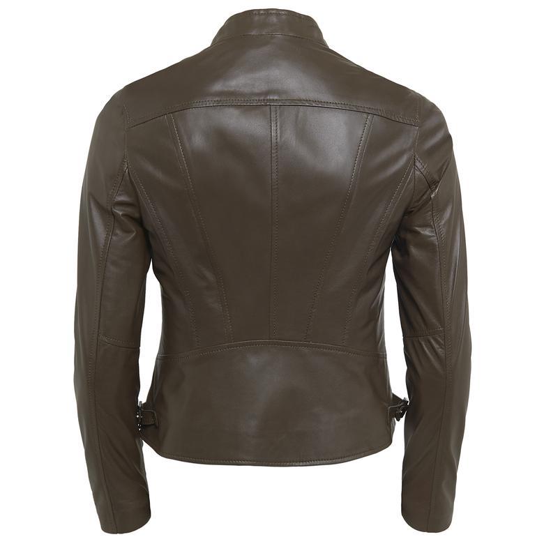 Paride Kadın Deri Basic Ceket 1010029800010