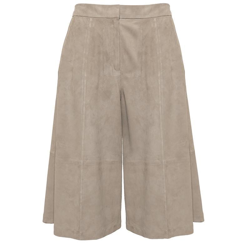 Adele Kadın Süet Bermuda Pantolon 1010030374004