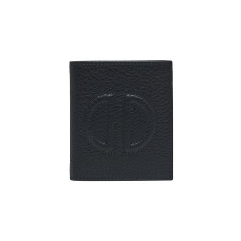 Siyah D Logolu Kadın Deri Cüzdan 1010030190002