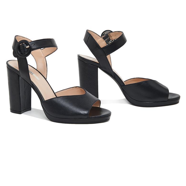 Nydrinia Kadın Deri Topuklu Sandalet 2010046129004