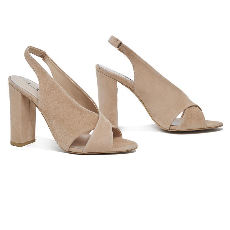 Audin Kadın Süet Topuklu Sandalet 2010046126011