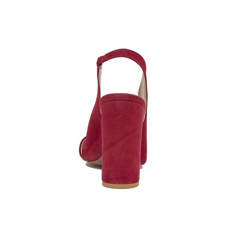 Audin Kadın Süet Topuklu Sandalet 2010046126009