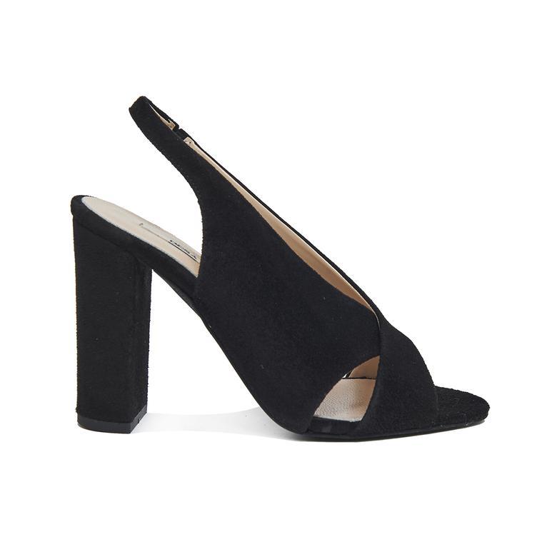 Audin Kadın Süet Topuklu Sandalet 2010046126003