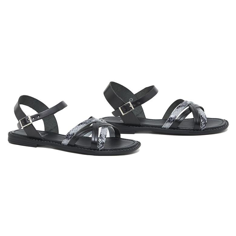Zerra Kadın Deri Sandalet 2010046174002