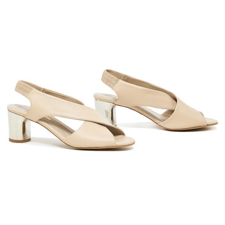 Arrianna Kadın Deri Gümüş Topuklu Sandalet 2010046097016