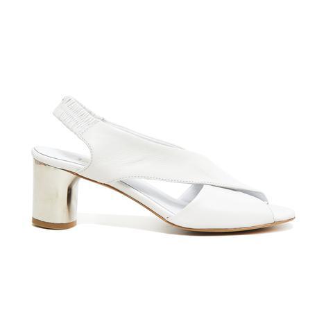 Arrianna Kadın Deri Gümüş Topuklu Sandalet 2010046097014