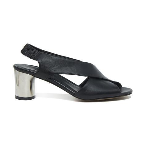 Arrianna Kadın Deri Gümüş Topuklu Sandalet 2010046097001