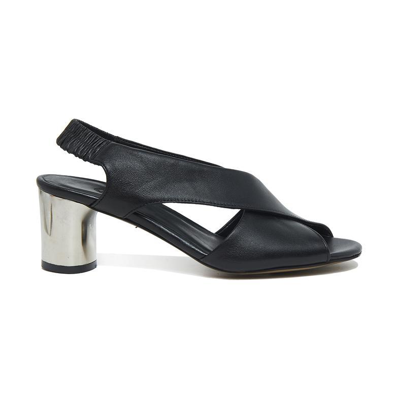 Arrianna Kadın Deri Gümüş Topuklu Sandalet 2010046097003
