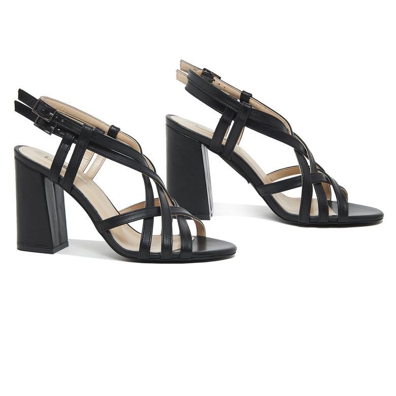Voida Kadın Deri Topuklu Sandalet 2010046125002