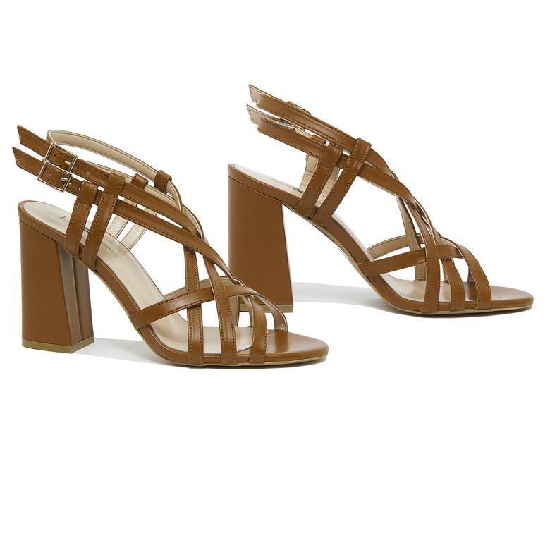 Voida Kadın Deri Topuklu Sandalet 2010046125006