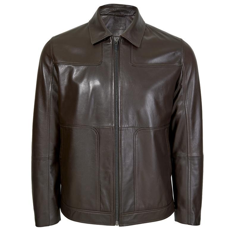 Manno Erkek Gömlek Yakalı Deri Ceket 1010028878010