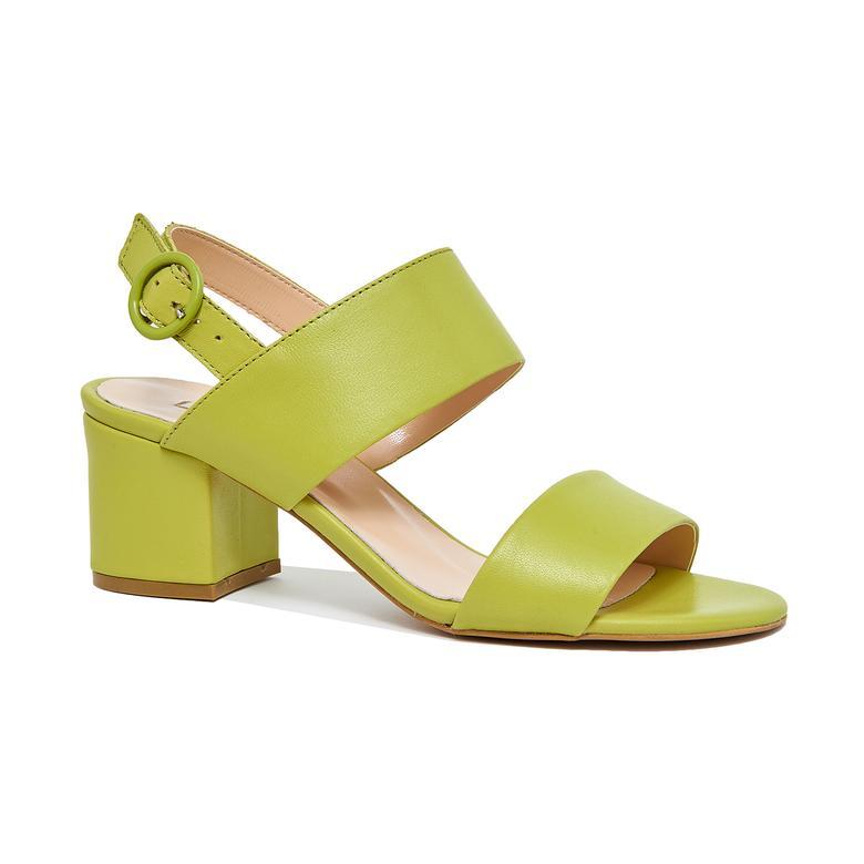 Nithra Kadın Deri Topuklu Sandalet 2010046305006