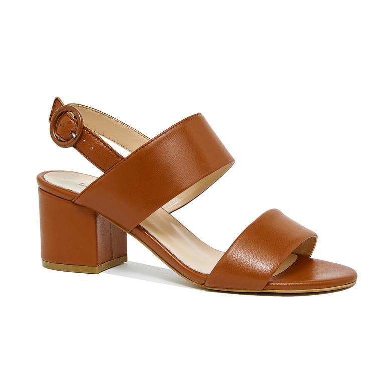 Nithra Kadın Deri Topuklu Sandalet 2010046305011