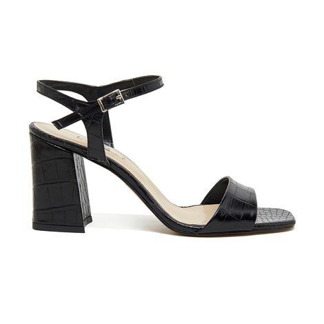 Wulzel Kadın Kroko Deri Topuklu Sandalet 2010046354002