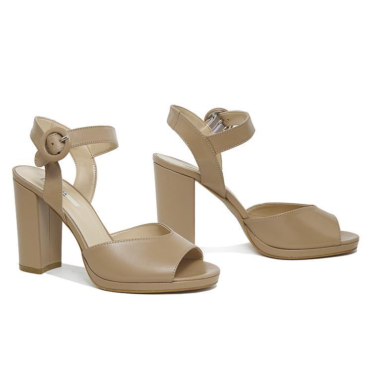 Nydrinia Kadın Deri Topuklu Sandalet 2010046129006