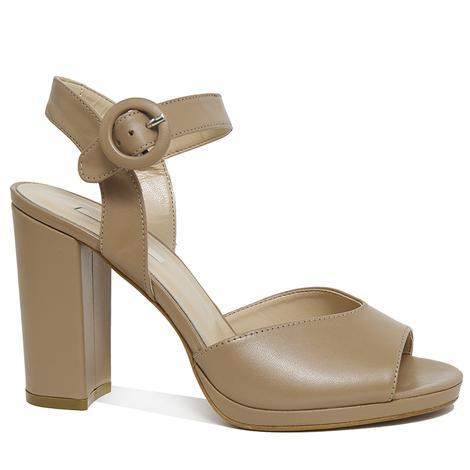 Nydrinia Kadın Deri Topuklu Sandalet 2010046129010