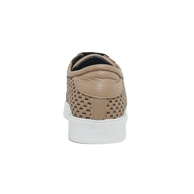 Azurina Kadın Örgülü Deri Spor Ayakkabı 2010046350011