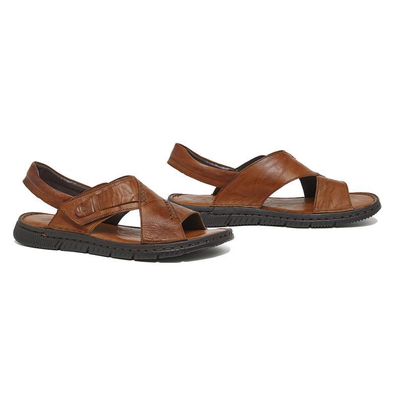 Donzel Erkek Deri Sandalet 2010046163013