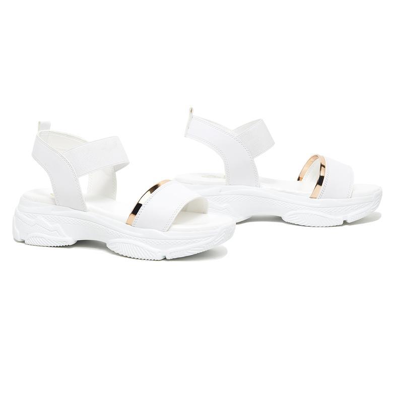 Chilai Kadın Kalın Tabanlı Sandalet 2010046075003