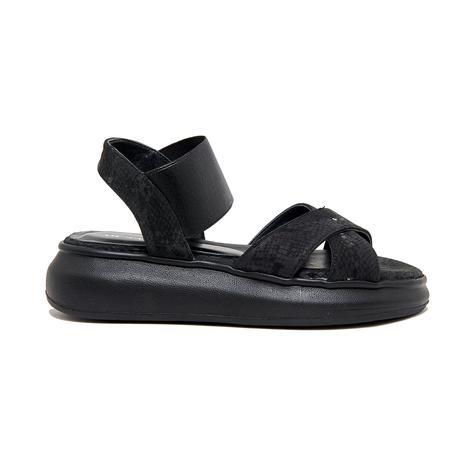 Siyah Melrose Kadın Deri Sandalet 2010046524003