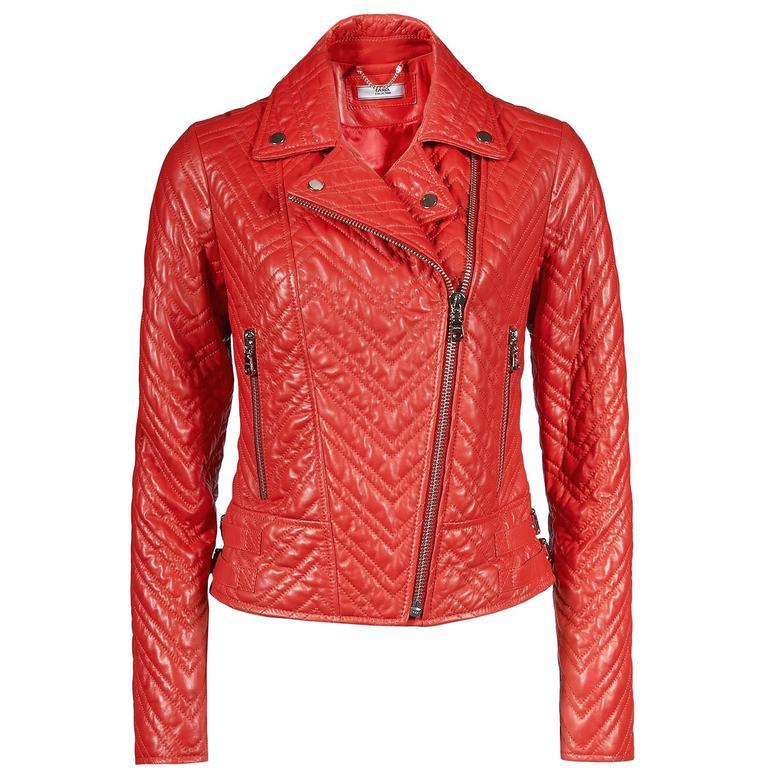 Riccarda Kadın Deri Biker Mont 1010027697002