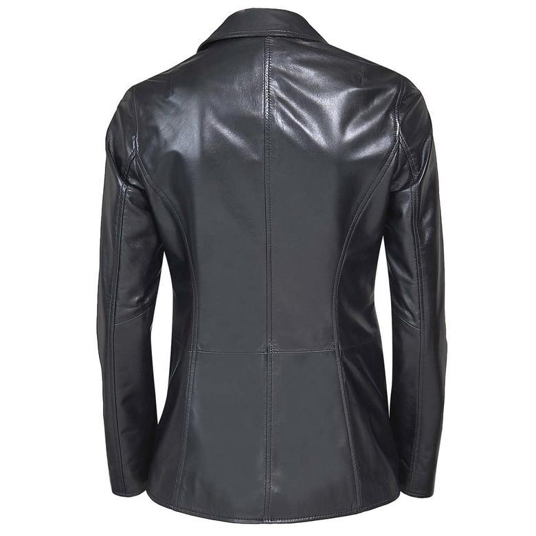 Elenore Kadın Deri Blazer Spor Ceket 1010028429007